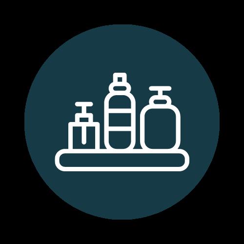 stockage produits hygiène cosmétique santé