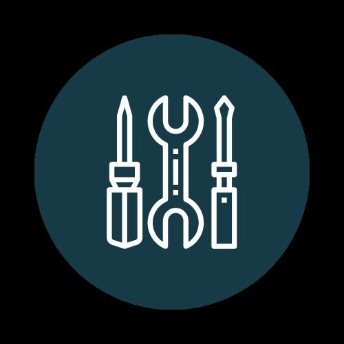 Stockage outils matériaux BTP
